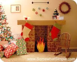 diy cardboard faux fireplace easy