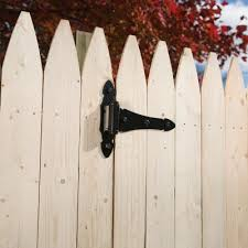 Black Fence Gate Hinges Fencing Parts Accessories The Home Depot