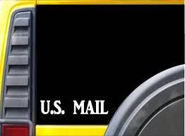 U S Mail L168 8 Inch Sticker Mail Carrier Window Decal Etsy