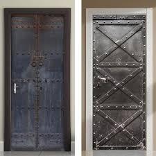 Vintage Metal Door 3d Door Decal Sticker Decorzee