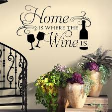 Home Where Wine Is Decal Wine Lovers Gift Kitchen Quote Etsy