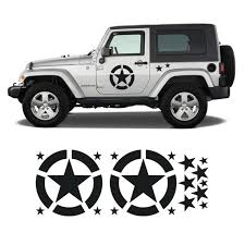Jeep Invasion Stars Door Decal Kit Military Stars Kit Jeek Etsy