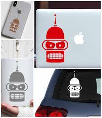 Bender Decal Bender Futurama Futurama Decal Laptop Decal Car Decal Vinyl Decals Vinyl Decals