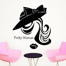 Shop Beauty Salon Wall Decals Woman Face Vinyl Decal Home Decoration Bedroom Barbershop Window Decor Overstock 11179324