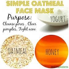 diy homemade oatmeal face mask recipes
