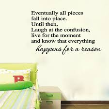 Eventually All Pieces Fall Into Place Wall Sticker Text Removable Vinyl Waterproof Living Room Decorative Decals Hg Ws 1988 Wall Sticker Text Room Decorationstickers Text Aliexpress