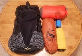my lightweight backng gear list