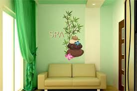 Cik1349 Full Color Wall Decal Stones Flowers Spa Beauty Salon Stickersforlife