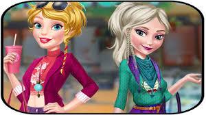 barbie and frozen elsa makeup and dress