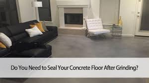 seal your concrete floor after grinding