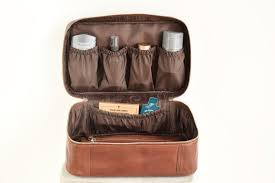personalized mens toiletry bag leather