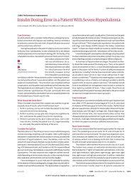 insulin dextrose for hyperkalemia