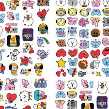 Amazon Com Ekoi Bts Stickers Kpop Set Laptop Phone Case Luggage Water Bottle Computer Calendar Vinyl Decal Cute Kawaii Korean Anime Cartoon Pack Army Merchandise 80 Pc Arts Crafts Sewing