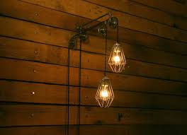 double industrial pulley light