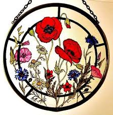 decorative hand painted stained glass