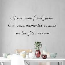 Vwaq Home Is Where Family Gathers Wall Decal Family Room Wall Quote Sa