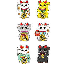 Amazon Com Magnet Lucky Cat Maneki Neko Magnetic Car Sticker Decal Refrigerator Metal Magnet Vinyl 5 Kitchen Dining
