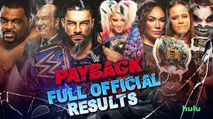 Full Official WWE Payback 2020 Results ...