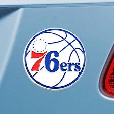 Philadelphia 76ers Color Metal Auto Emblem Buy At Khc Sports