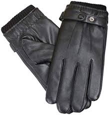 leather gloves autumn and winter