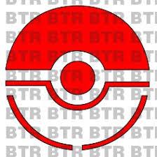 Pokemon Go Red Pokeball Logo Decal 8123