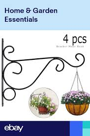 4 X Hanging Basket Brackets For Concrete Fence Post Easyfill Brackets H Post Uk Hanging Baskets Hanging Flower Baskets Hanging Basket Brackets