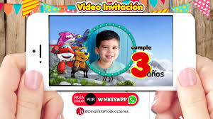 Super Wings Video Invitacion Cumpleanos Youtube