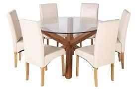 argos home oakington round glass table
