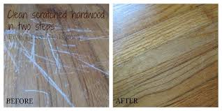 clean scratches on hardwood floors