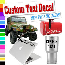 Custom Text Decal For Cups Phones Cars Windows Laptops Vehicles Eggleston Design Co