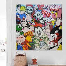 Pop Art Graffiti Art Andy Warhol Acrylic Painting On Canvas Etsy Hand Painted Wall Art Acrylic Painting Canvas Wall Art Painting