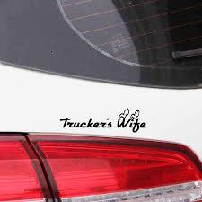 Yjzt 12 3cm 3 5cm Fashion Truckers Wife Vinyl Car Window Sticker Decal Black Silver C11 1817 Car Stickers Aliexpress