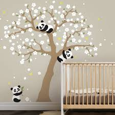 Harriet Bee Panda And Cherry Blossom Tree Wall Decal Wayfair