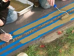 how to paint a concrete patio floor