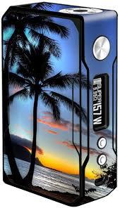 Amazon Com Skin Decal Vinyl Wrap For Voopoo Drag 157w Tc Resin Reg Vape Mod Skins Stickers Cover Paradise Sunset Palm Trees