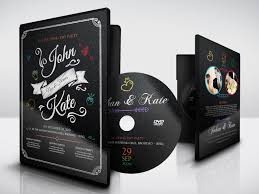 wedding dvd cover and label template by