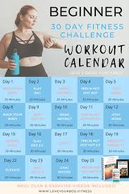 30 day beginner home workout challenge