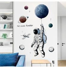 Creative Space Planet Astronaut Wall Sticker For Kids Rooms Boys Bedroom Wall Decals Diy Mural Art Pvc Posters Wallpaper Y200103 Vinyl Wall Decals Vinyl Wall Decals Kids From Shanye10 10 4 Dhgate Com