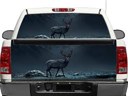 Deer Moose With Red Eyes Rear Window Or Tailgate Decal Sticker Pick Up Truck Suv Car