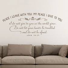 Peace I Leave With You My Peace I Give You Christian Wall Decal John 14 27 Scripture Wall Decals Inspirational Wall Art G414 Wall Stickers Aliexpress