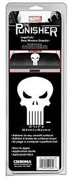 Punisher Skull Logo Cutz Rear Window Decal Graphix Fantasy Rush Memorabilia