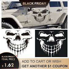 Large Size 40x36cm Skull Head Car Stickers And Decals Reflective Vinyl Car Styling Auto Engine Hood Door Window Car Decal Buy At The Price Of 1 69 In Aliexpress Com Imall Com