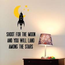 Shoot For The Moon Wall Quotes Decal Wallquotes Com