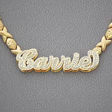 xo chain 10kt gold personalized name