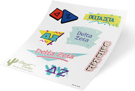 Amazon Com Delta Zeta Themed Sticker Decal Laptop Water Bottle Car Dz Full Sheet 90 S