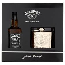 whiskey 5cl hip flask gift set