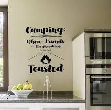 Camping Grille Decalque Mur Art Mural Cabine Decor De Etsy Camping Camper Art Rv Decals