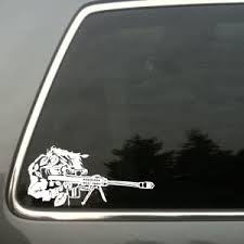 Amazon Com Sniper In Ghillie Suit Vinyl Decal Small Automotive