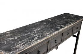 console table vintage w 4 drawer