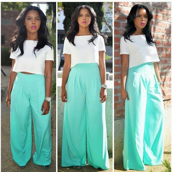 """Image result for nigerians wearing crop top and high waist pants"""""""